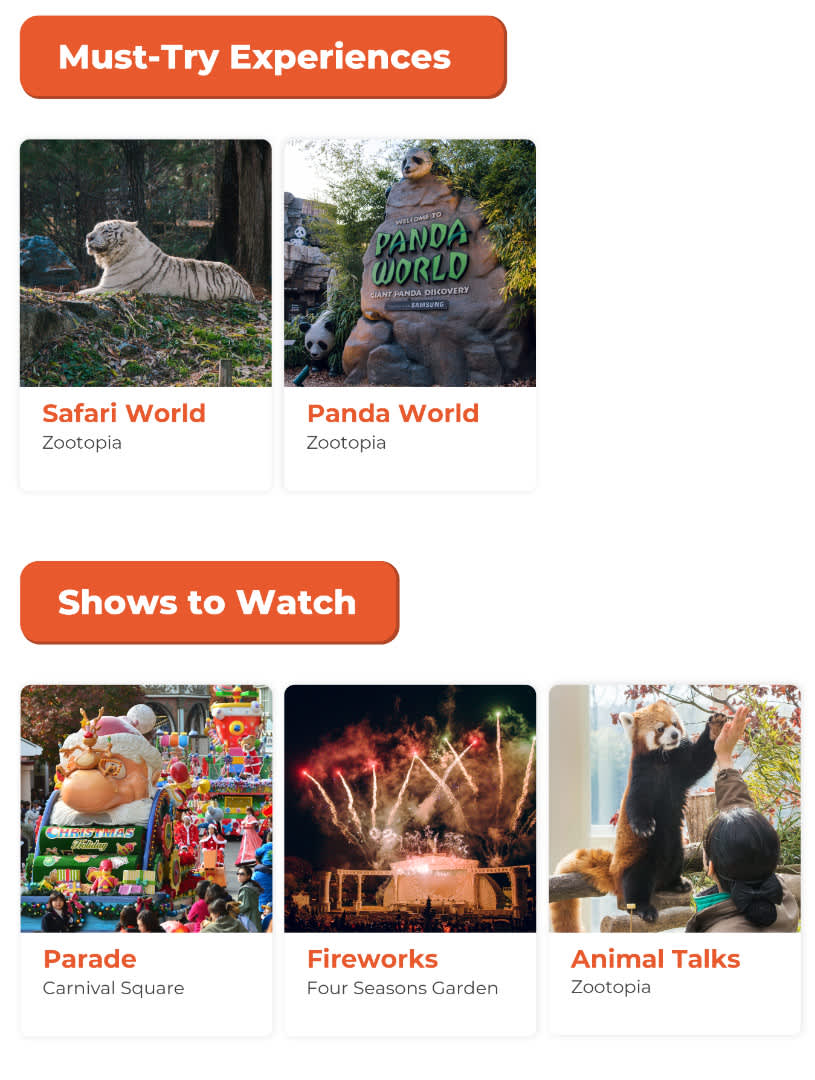 Must Try Experiences and Shows to Watch at Everland